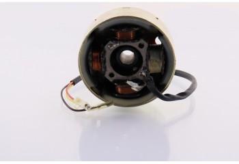 Магнето (в сборе) Suzuki AD50/sepia (3+1 катушек) генератор в сборе